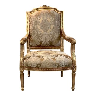 Louis XVI Accent Chair, French Chair, Handmade, Antique Vintage Reproduction For Sale