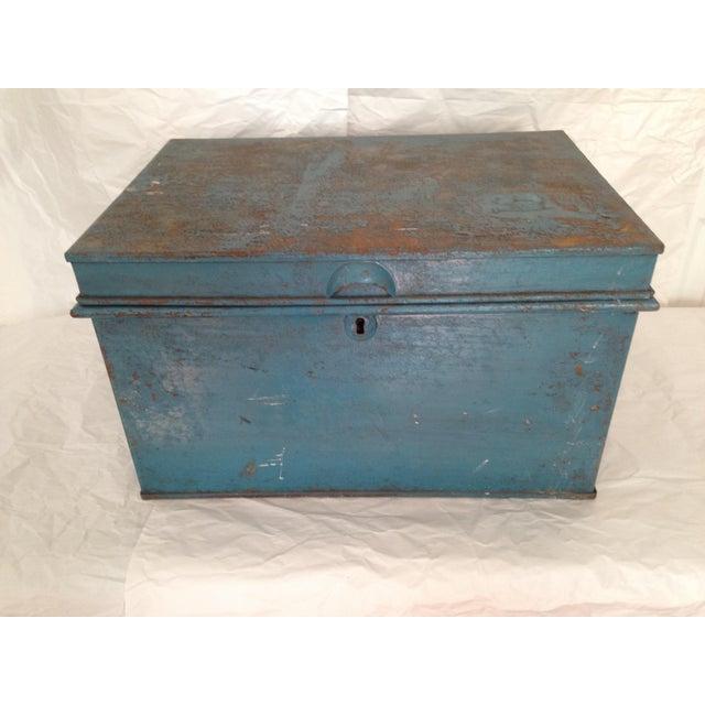 Vintage Metal Locking Box - Image 2 of 8