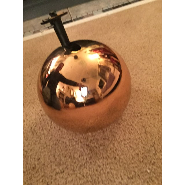 Mid Century Lightolier gold orb eye track light. Light is in good condition. Some wear to outside as seen in photos....