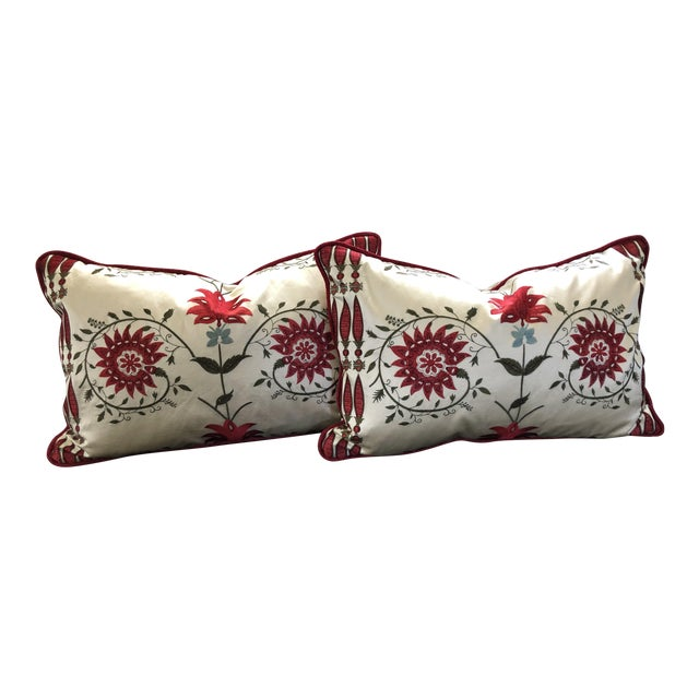 Pierre Frey Kidney Pillows - A Pair For Sale