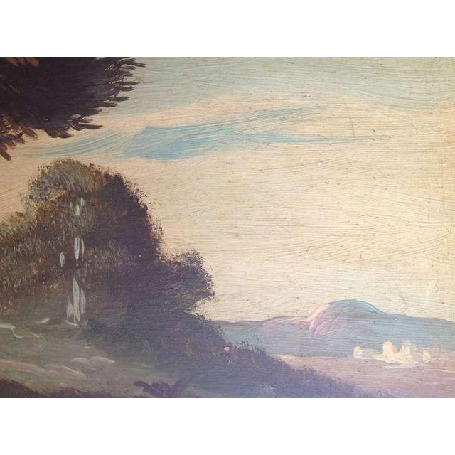Gold Pair of 19th Century Italian Landscapes For Sale - Image 8 of 9
