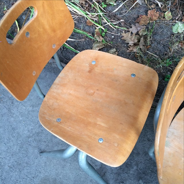 Brunswick Plywood Children's Chairs - Set of 3 For Sale In Boston - Image 6 of 7