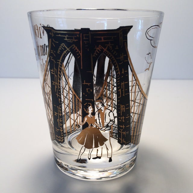 "2 - Hollywood Regency Lo-Ball Glasses ""A View From the Bridge"" - Image 3 of 10"