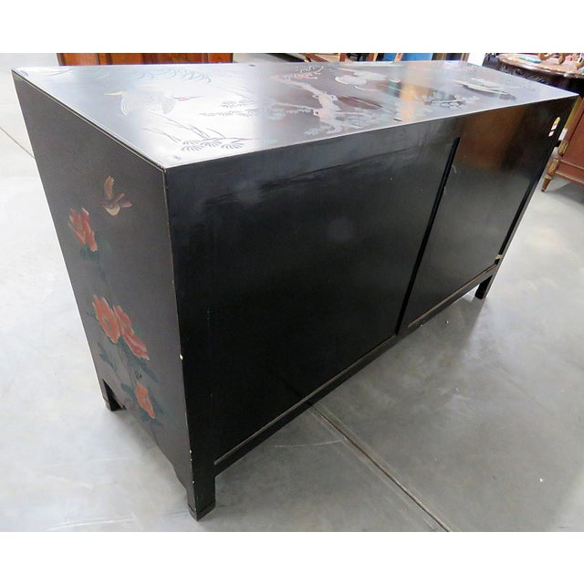 Asian Paint Decorated Cabinet For Sale - Image 9 of 11