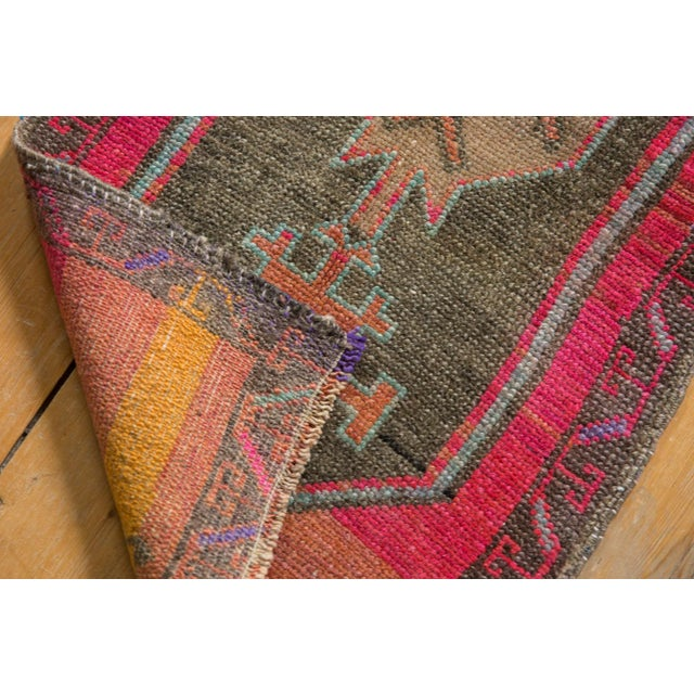 """Old New House Vintage Distressed Oushak Rug Mat - 1'6"""" X 2'11"""" For Sale - Image 4 of 6"""