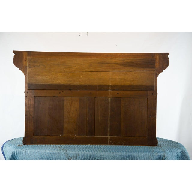 Vintage French Oak Breakfront Display Cabinet For Sale - Image 9 of 10