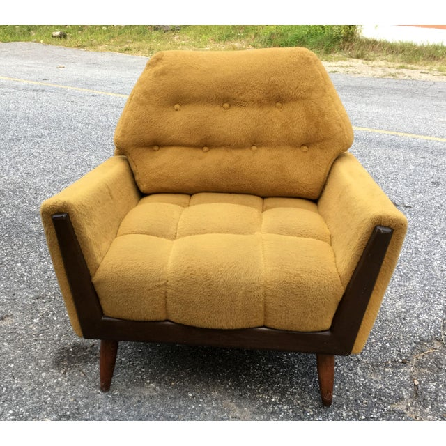Mid Century Adrian Pearsall Angled Walnut Lounge Chair - Image 2 of 6