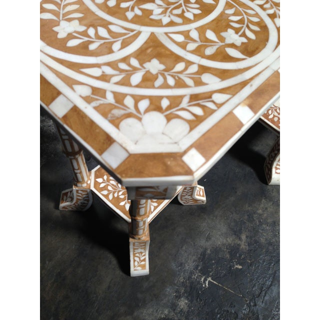 Pair of Bone Inlay Side Tables For Sale In San Francisco - Image 6 of 8