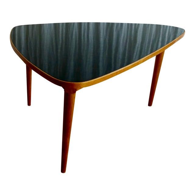 MidCentury Modern Triangular Coffee Table Chairish - Mid century triangle coffee table
