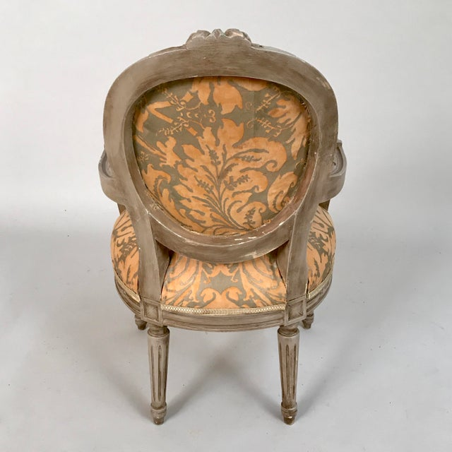 1940s French Louis XVI Style Child's or Doll's Armchair Attributed to Maison Jansen For Sale In Chicago - Image 6 of 8