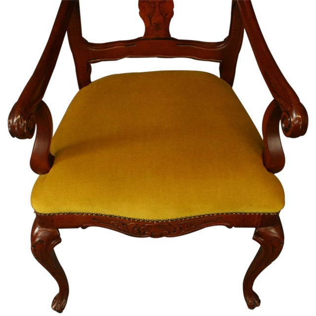 Italian Rococo Arm Chair with Inlaid Marquetry - Image 4 of 8