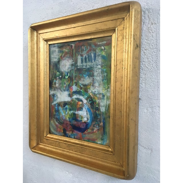 Abstract Framed Abstract, Oil on Canvas For Sale - Image 3 of 7