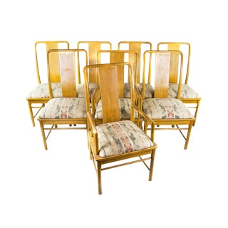 Contemporary Chinese Style Dining Chairs - Set of 8 For Sale