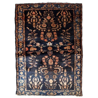 1920s, Handmade Antique Persian Sarouk Rug 3.3' X 5.4' For Sale