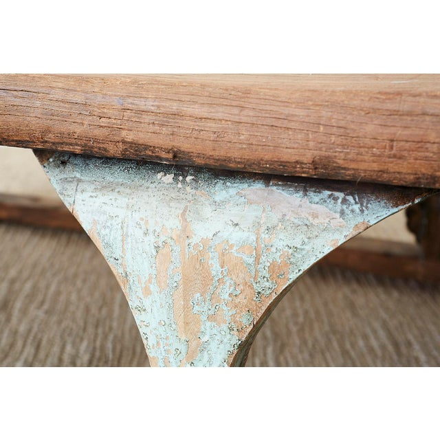 Monumental Weathered Pine Coffee Cocktail Table For Sale - Image 11 of 13