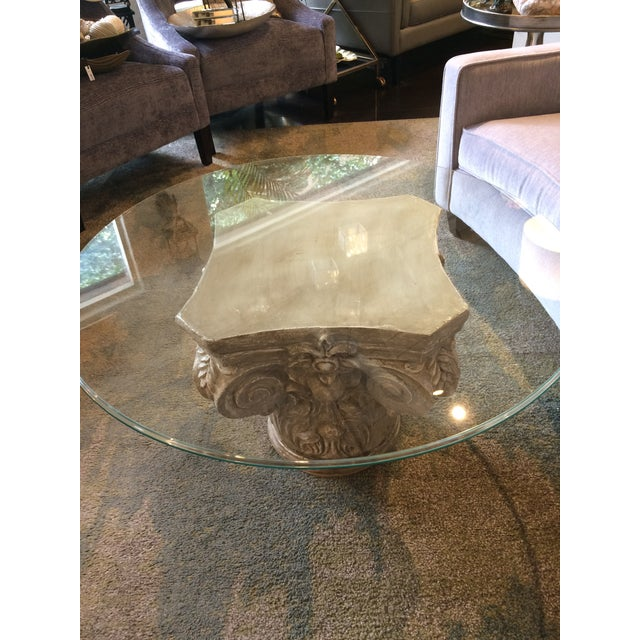 Parisian Capitol Round Glass Table For Sale - Image 4 of 7