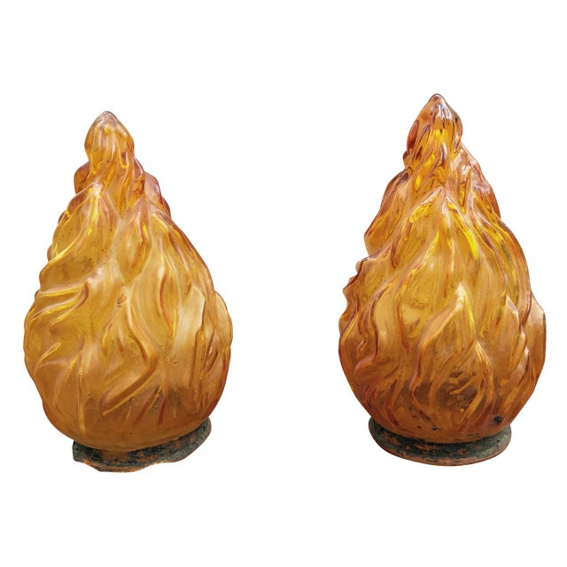 Custom Made Flame Sconces - A Pair - Image 1 of 3