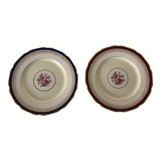 Vintage Johnson Brothers Pareek Floral Design Dinner Plates Set of 2 For Sale