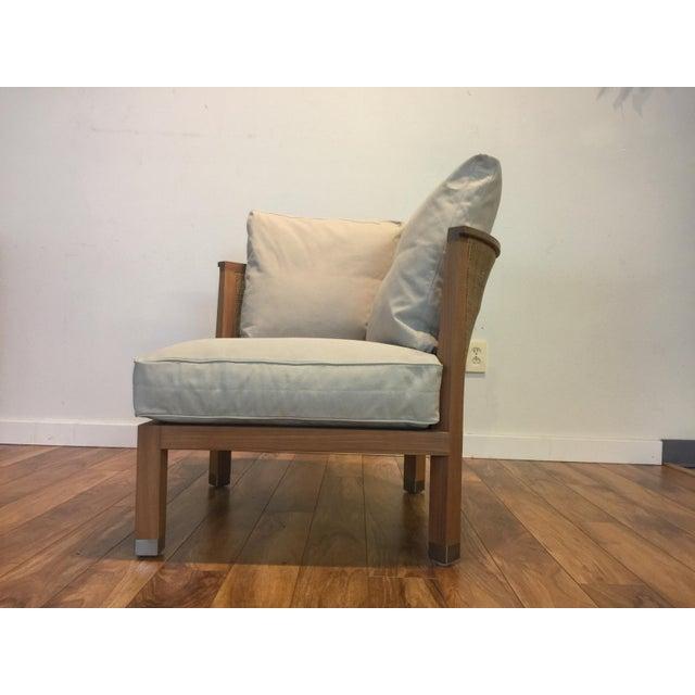 Flexform Italian Wood & Wicker Rosetta Chair For Sale - Image 5 of 11