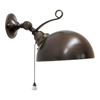 Italian Brass Dome Wall Lights For Sale