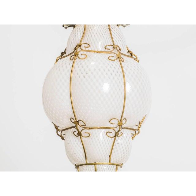 Italian Italian Handblown Murano Lantern For Sale - Image 3 of 9