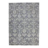 Image of New Transitional Light Gray Ikat Area Rug - 09'11 X 14'00 For Sale