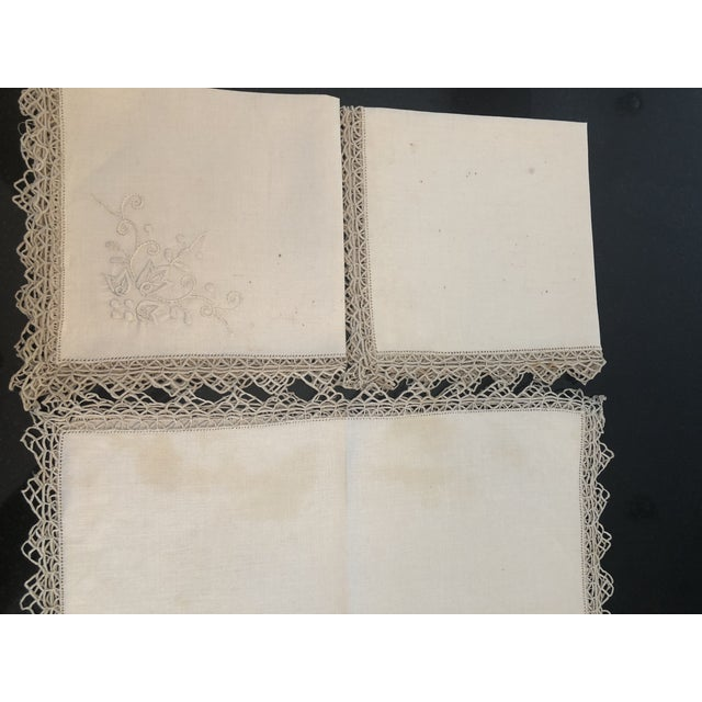 Vintage Italian Linen Napkins Hand-Embroidered Reticella - Set of 12 For Sale - Image 12 of 13