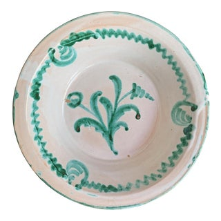 Andalusian Pottery Bowl For Sale