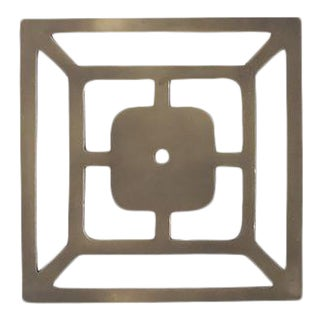 """Addison Weeks Benson 5"""" Backplate - Antique Brass For Sale"""