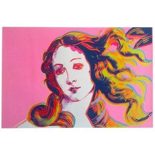 "Andy Warhol Foundation Offset Lithograph Print Pop Art Poster "" Birth of Venus "" 1984 For Sale"