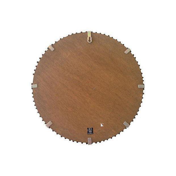 Rattan Albini-Style Round Mirror - Image 4 of 4