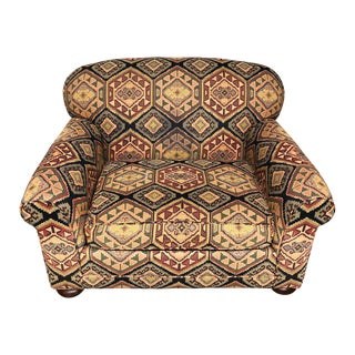 Lee Industries Kilim Pattern Club Chair For Sale