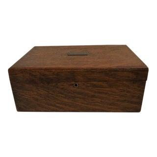 Traditional Oak Humidor Box For Sale