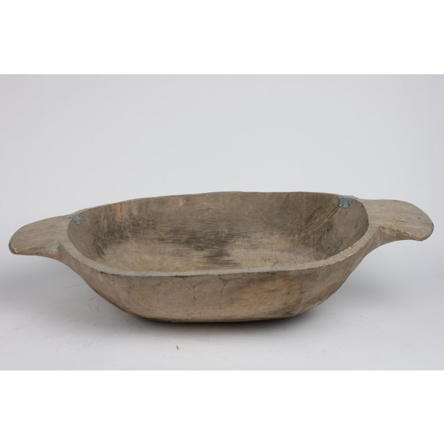 Antique Carved Dough Bowl - Image 3 of 6