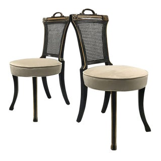 1960s Neoclassical Side Chairs — a Pair For Sale