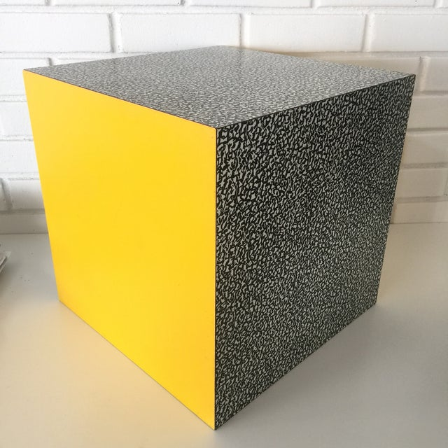 1980s Memphis Ettore Sottsass for Anthologie Quartetto Cube Table For Sale - Image 12 of 12