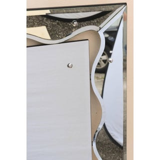 1950s Hollywood Regency Monumental Scalloped Horizontal Mirror Preview