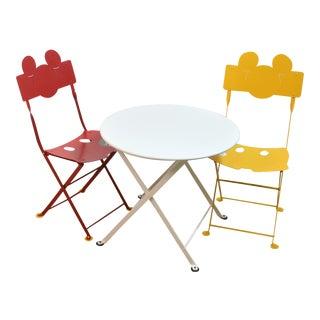 Fermob Kids Bistro Set- 3 Pieces For Sale