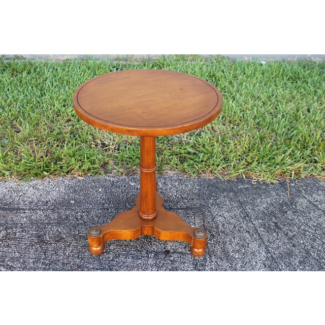 Brown 1950s Mid-Century Modern Walnut Side Table For Sale - Image 8 of 8
