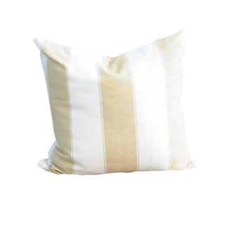Wheat & White Stripes Pillow