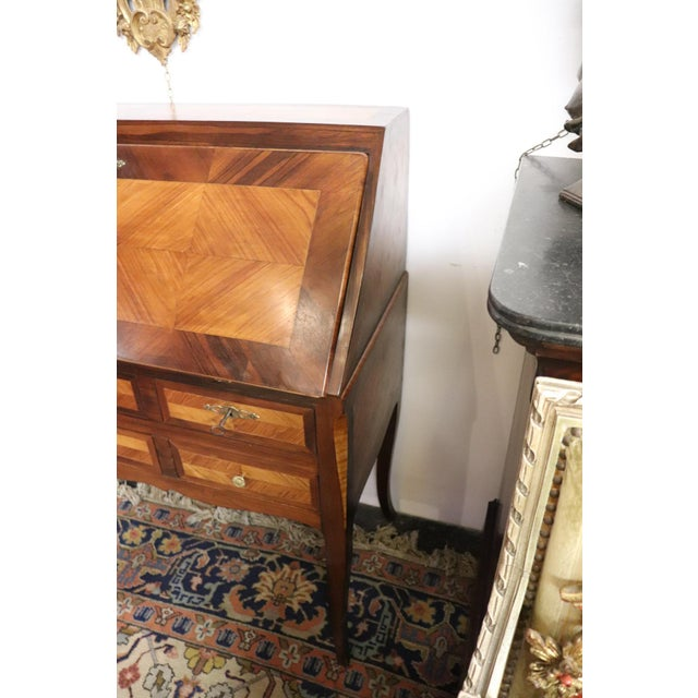 Mid 19th Century 19th Century Italian Antique Louis XV Style Luxury Chest of Drawers With Secretaire For Sale - Image 5 of 13