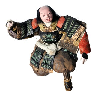 Musha Samurai Warrior Figure C. 1850 For Sale