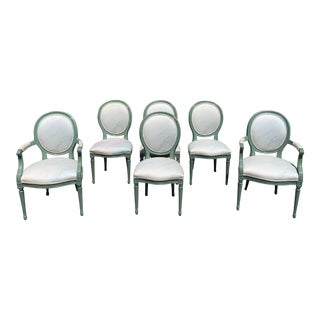 1920s Antique French Louis XVI Dining Chair- Set of 6 For Sale
