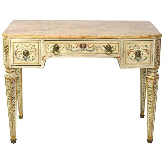 Neoclassical Style Painted Dressing Table or Desk For Sale - Image 13 of 13