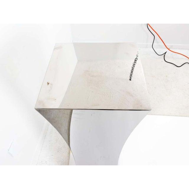 Polished Nickel Concave Pedestal For Sale - Image 9 of 11