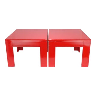 Vintage Mid-Century Modern Minimalist Side Tables - A Pair For Sale