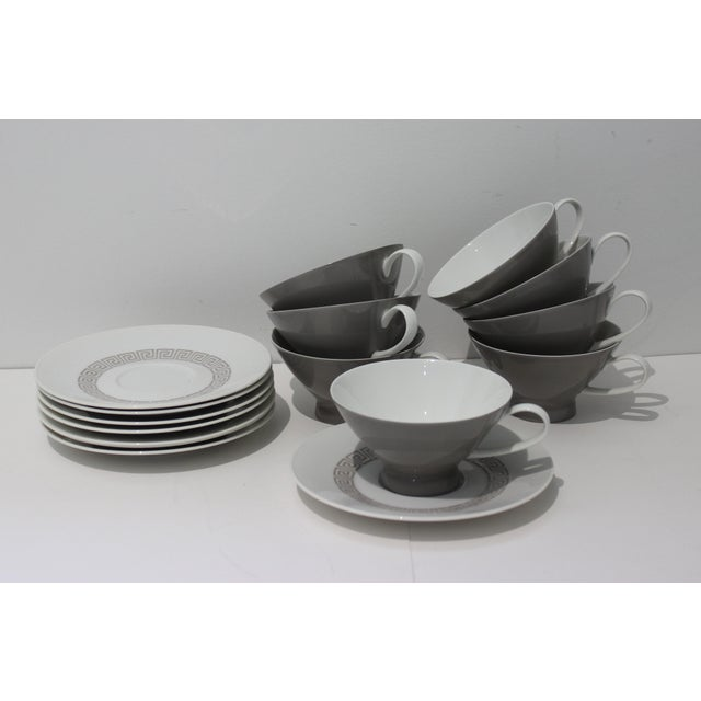 """Mid-Century Modern Rosenthal """"Athenia"""" Dinner Service for 8 Plus Serving Pieces - 63 Items Total For Sale In West Palm - Image 6 of 13"""