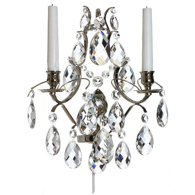 Wall Sconce - Chrome Baroque-Style - Image 1 of 3