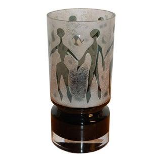 Kosta Boda Swedish Art Glass Table Lamp by Ove Sandeberg For Sale