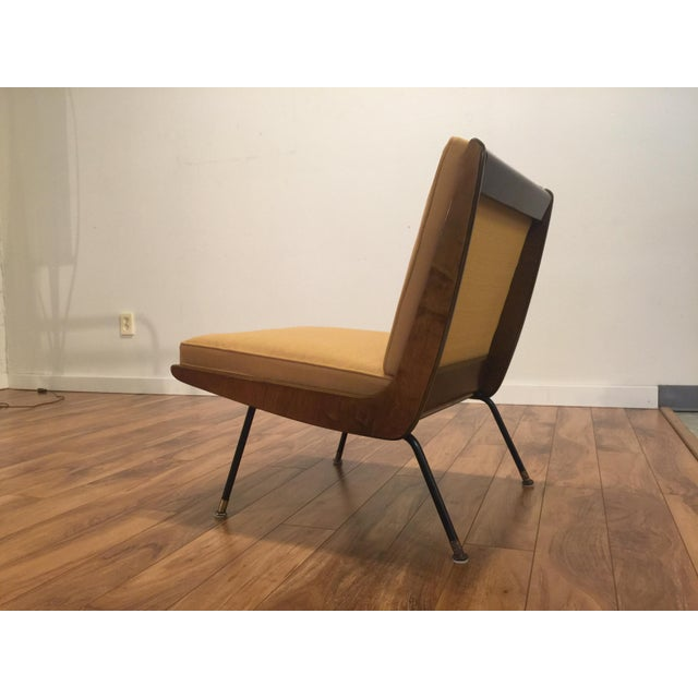 Textile New Yellow Upholstery Mid-Century Boomerang Chair For Sale - Image 7 of 11